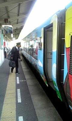 中村へ電車で移動